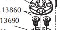 Dillon SDB Base Disk Screw Code 13860